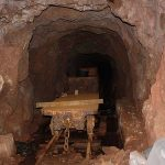 Flat wagon in the mine