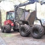 Forest forwarder: a log-moving machine