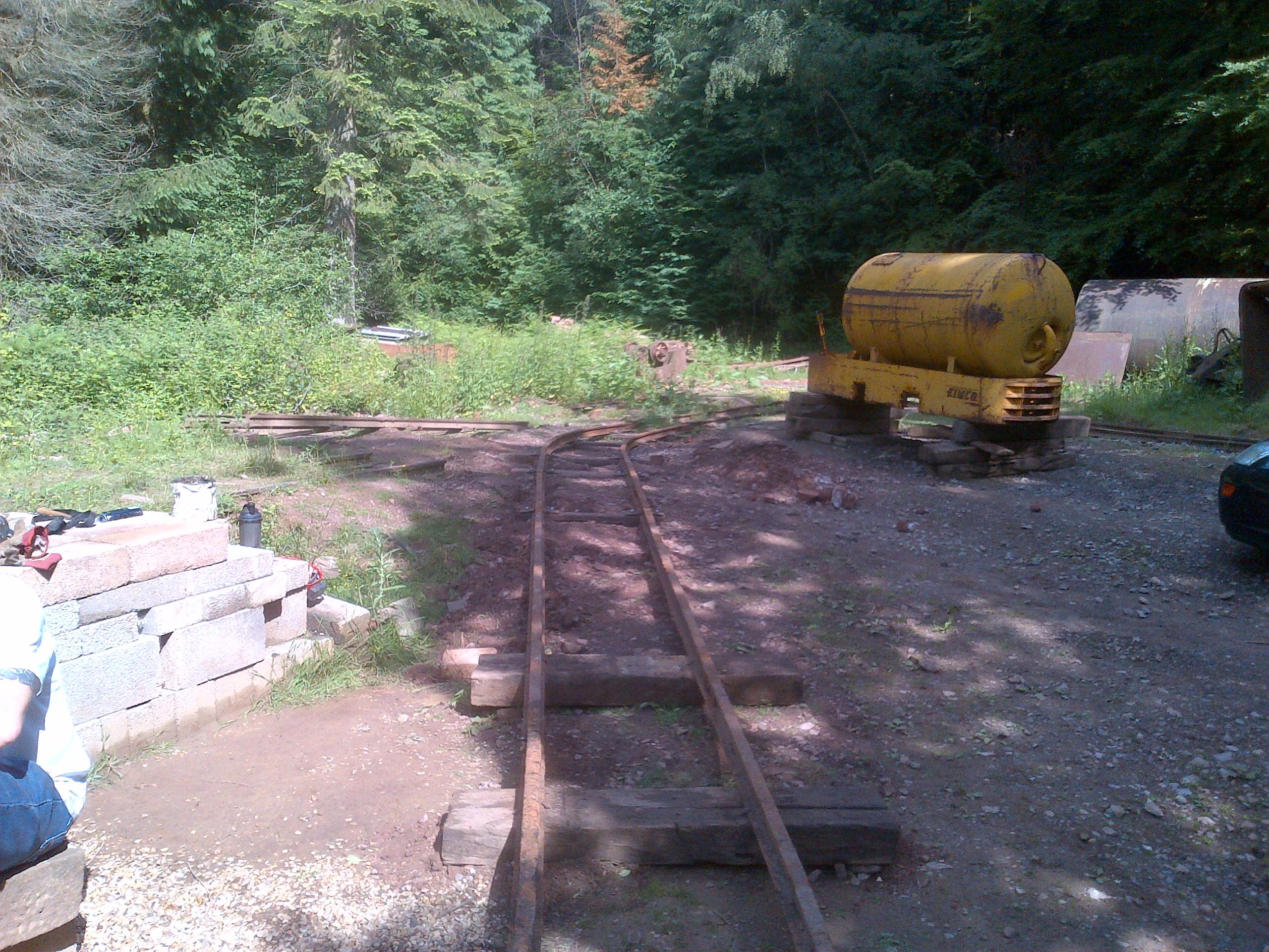 Temporary track under construction