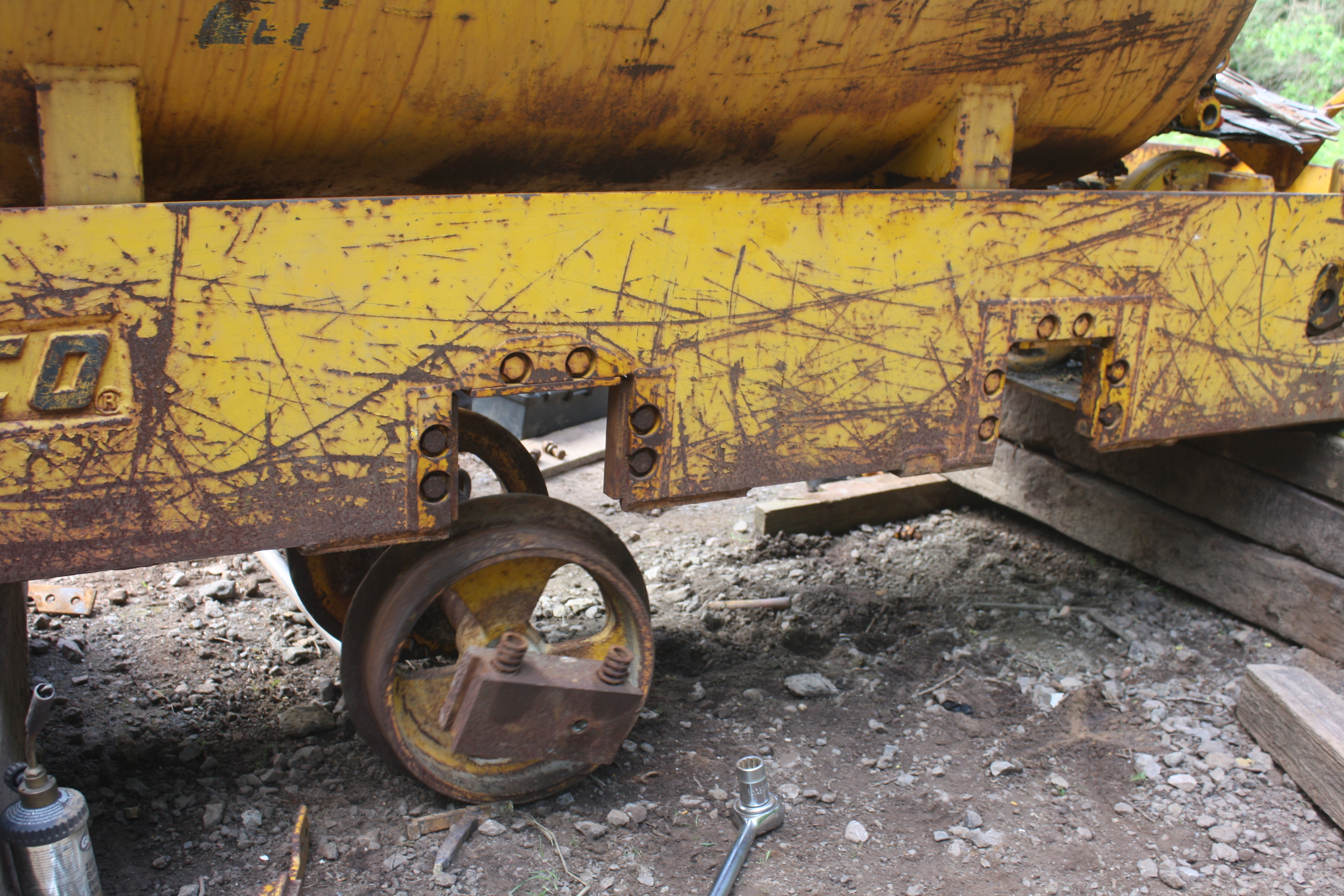 Second axle removed