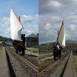 Spooner's Boat — a sail-powered rail vehicle.