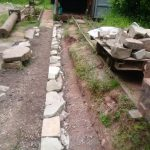 Retaining wall at Lea Bailey